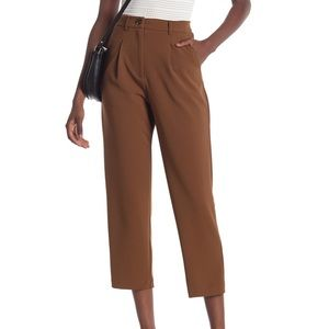 Good luck gem brown front pleat ankle pants new